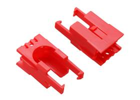Romi Chassis Motor Clip Pair – Red.