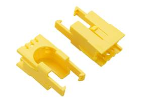 Romi Chassis Motor Clip Pair – Yellow.