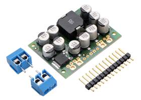 Pololu Step-Down Voltage Regulator D24V150Fx with included hardware.