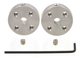 Pololu hubs for 4mm shafts with M3 holes