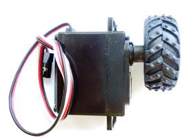 Continuous rotation servo with wheel - side