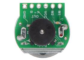 Magnetic Encoder Kit for 20D mm Metal Gearmotors assembled on a 20D mm metal gearmotor with extended motor shaft. (1)