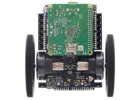 Balboa 32U4 Balancing Robot with 80x10mm wheels and a Raspberry Pi 1 Model A+.