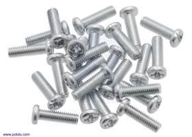 Machine Screw: M3, 10mm Length, Phillips (25-pack).
