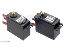 The FEETECH FS5115M and Power HD 1501MG servos have nearly identical dimensions and similar performance.