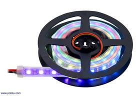 Addressable RGB 60-LED Strip, 5V, 1m (APA102C or SK9822) on the included reel.