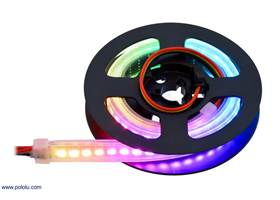 Addressable High-Density RGB 72-LED Strip, 5V, 0.5m (APA102C or SK9822) on the included reel.