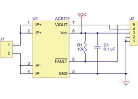 ACS711EX Current Sensor - Schematic