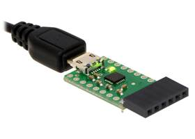 CP2104 USB-to-serial adapter carrier - right angle header