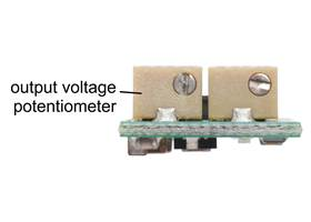 A multi-turn potentiometer can be used to adjust the output voltage of the S9V11MAx voltage regulators.