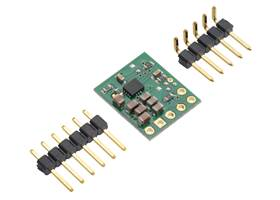 5V Step-Up/Step-Down Voltage Regulator w/ Adjustable Low-Voltage Cutoff S9V11F5S6CMA with included optional header pins.