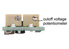 A multi-turn potentiometer can be used to adjust the low-voltage cutoff of the S9V11xCMA voltage regulators.