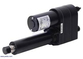 "Glideforce LACT4-1000BPL Industrial-Duty Linear Actuator with Ball Screw Drive and Feedback: 450kgf, 4"" Stroke, 0.66""/s, 12V."