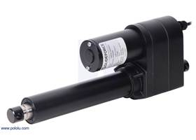 "Glideforce LACT6-1000BPL Industrial-Duty Linear Actuator with Ball Screw Drive and Feedback: 450kgf, 6"" Stroke, 0.66""/s, 12V."
