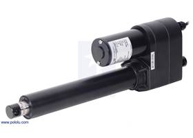 "Glideforce LACT8-1000BPL Industrial-Duty Linear Actuator with Ball Screw Drive and Feedback: 450kgf, 8"" Stroke, 0.66""/s, 12V."