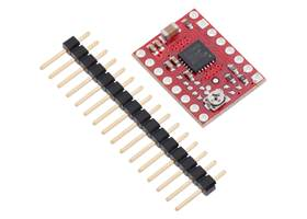 MP6500 Stepper Motor Driver Carrier, Potentiometer Current Control with included header pins.