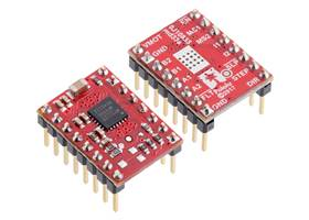 MP6500 Stepper Motor Driver Carriers, Digital Current Control with included header pins soldered.