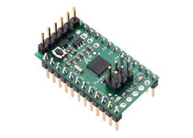A-Star 328PB Micro with included header pins soldered for breadboard use. (1)