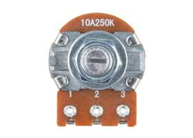 Rotary Potentiometer - 250k Ohm, Logarithmic (Panel Mount)  (3)