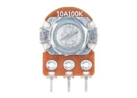 Rotary Potentiometer - 100k Ohm, Logarithmic (Panel Mount)  (2)