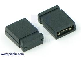 "0.100"" (2.54 mm) Shorting Block: Black, Top Closed"