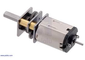 380:1 micro metal gearmotor with extended motor shaft, precious metal brushes, and stainless steel gearbox plates.