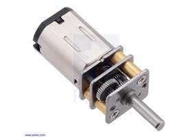 380:1 micro metal gearmotor with stainless steel gearbox plates.