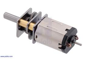 380:1 HPCB micro metal gearmotor with extended motor shaft, long-life carbon brushes, and stainless steel gearbox plates.