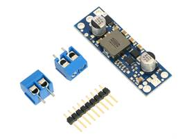 Pololu fixed step-up voltage regulator U3V50Fx with included optional terminal blocks and header pins
