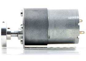 37D mm gearmotor (without encoder) with L-bracket and 6mm universal mounting hub. (1)