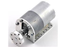 37D mm gearmotor (without encoder) with L-bracket and 6mm universal mounting hub. (2) (2)