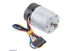 Motor with 64 CPR Encoder for 37D mm Metal Gearmotors (No Gearbox, Helical Pinion)