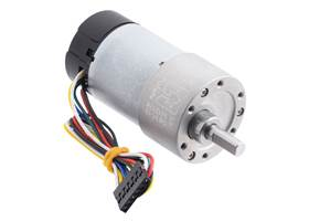 19:1 Metal Gearmotor 37Dx68L mm with 64 CPR Encoder (Helical Pinion).