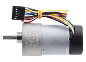 19:1 Metal Gearmotor 37Dx68L mm with 64 CPR Encoder (Helical Pinion). (1)