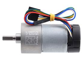 70:1 Metal Gearmotor 37Dx70L mm with 64 CPR Encoder (Helical Pinion). (1)
