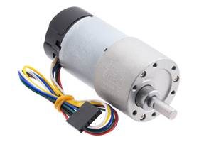 100:1 Metal Gearmotor 37Dx73L mm with 64 CPR Encoder (Helical Pinion).