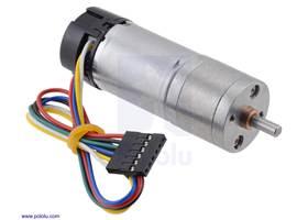25Dmm metal gearmotor with 48CPR encoder.