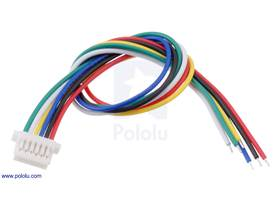6-Pin Female JST SH-Style Cable 12cm.