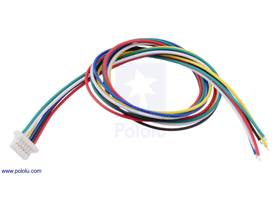 6-Pin Female JST SH-Style Cable 30cm.