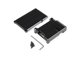 Aluminum Heatsink Case for Raspberry Pi 4 - Black
