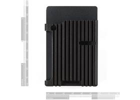 Aluminum Heatsink Case for Raspberry Pi 4 - Black (2)