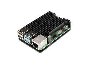 Aluminum Heatsink Case for Raspberry Pi 4 - Black (3)