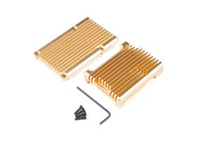 Aluminum Heatsink Case for Raspberry Pi 4 - Gold