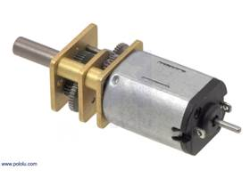 Micro metal gearmotor with extended motor shaft.