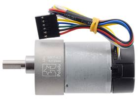 6.3:1 Metal Gearmotor 37Dx65L mm 12V with 64 CPR Encoder (Helical Pinion). (1)