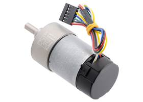 6.3:1 Metal Gearmotor 37Dx65L mm 12V with 64 CPR Encoder (Helical Pinion). (2) (2)