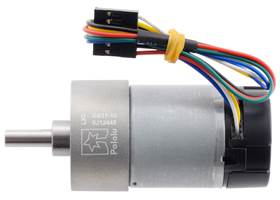 10:1 Metal Gearmotor 37Dx65L mm 12V with 64 CPR Encoder (Helical Pinion). (1)