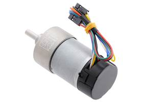 10:1 Metal Gearmotor 37Dx65L mm 12V with 64 CPR Encoder (Helical Pinion). (2) (2)
