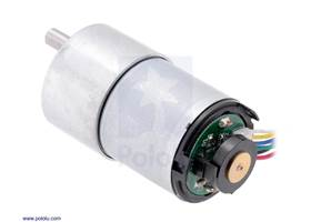 37D mm metal gearmotor with 64 CPR encoder (with end cap removed).