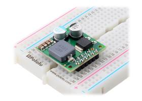 Step-Down Voltage Regulator D36V50Fx, assembled on breadboard.